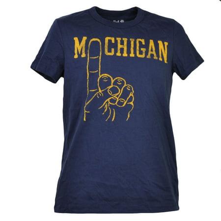 NCAA Michigan Wolverines Navy Blue Mens Tshirt Tee Short Sleeve Crew Neck XSmall (Halloween Stores Michigan)