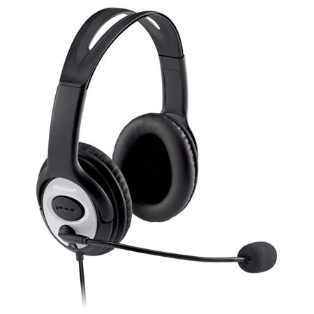 Microsoft LifeChat LX-3000 Over-The-Head Stereo - Microsoft Lifechat Wireless Headset