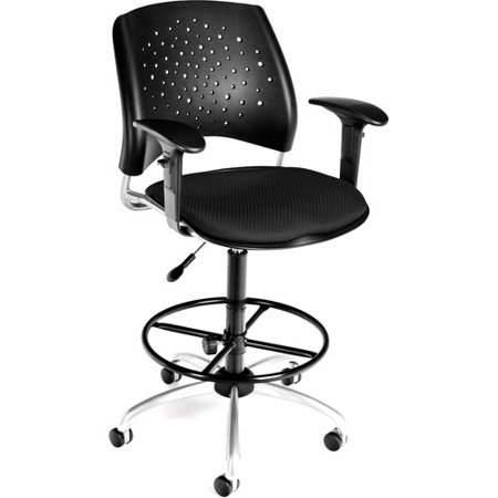 OFM Star Swivel Ergonomic Task Chair With Arms And Drafting Kit