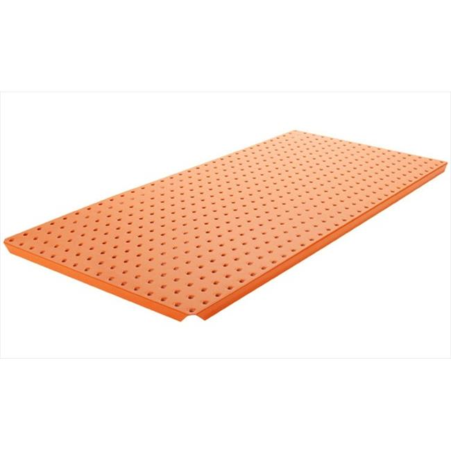 Alligator Board ALGBRD16x32PTD-ORG Orange Powder Coated Metal Pegboard Panels with Flange - Pack of 2