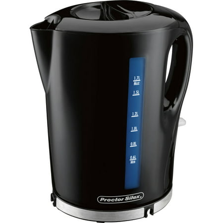 Proctor Silex 1.7 Liter Cordless Electric Kettle | Model# 41002 (1 Liter Electric Tea Kettle)