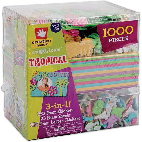 Fibre Craft 461046 3-In-1 Foam Kit-Tropical