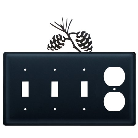 Pinecone - Triple Switch & Single Outlet
