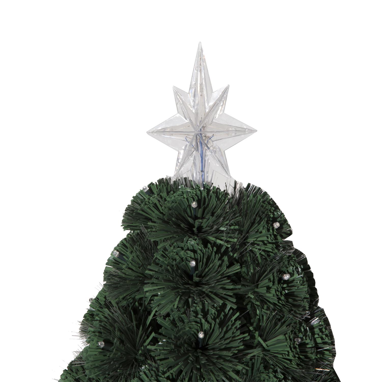 HomCom 7u0027 Artificial Holiday Decoration Light Up Christmas Tree   Green    Walmart.com