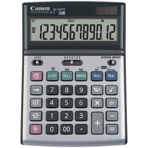 Solar and Battery-Powered 12-Digit Calculator