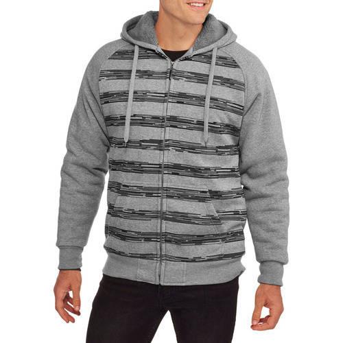 Climate Concepts Men's Stripe Fleece Sherpa Hoodie