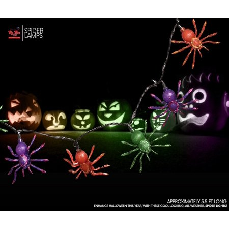 Big Mo's Toys Fun Halloween Glitter Spider LED String Lights (1 - Fun Halloween Recipes