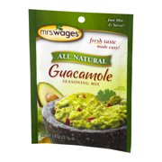 Mrs. Wages All Natural Guacamole Seasoning Mix, 0.8 oz Pouch