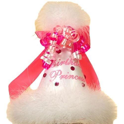 Baby Girl Accessory WHITE BIRTHDAY PRINCESS Party Hat