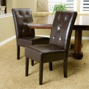 Noble House Tara Dining Chair in Brown (Set of 2)