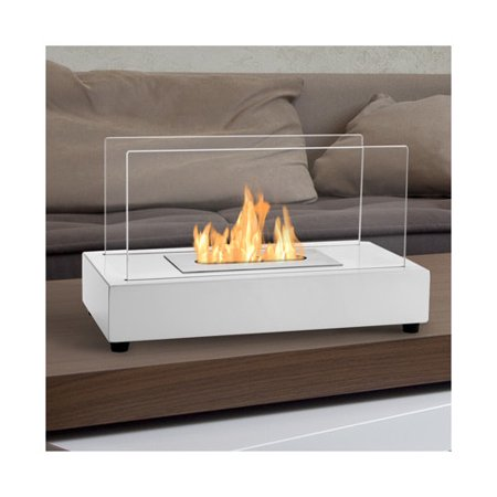 Ignis TTF-017W Tower White Tabletop Ventless Ethanol Fireplace