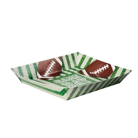 Game Day Football Paper Snack Tray, 15 x 11 in, (Football Snack Bowl)