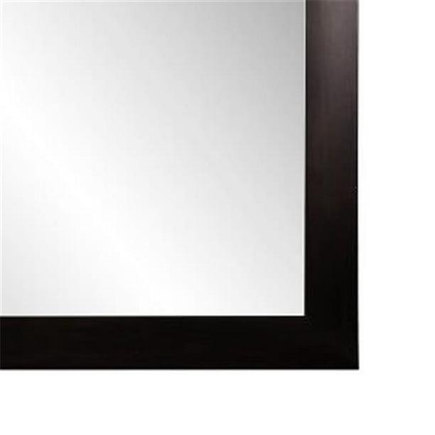 Flat Framed Wall Mirror 44 Black, 36 X 42 Framed Beveled Mirror