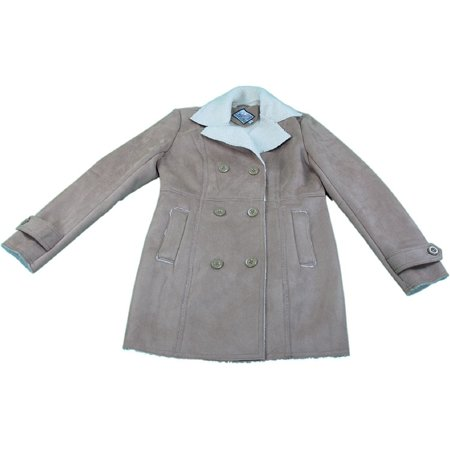 The American Outdoorsman Sky High Ladies Small Faux Leather Coat, Chocolate/Tan