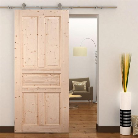 Homcom 6ft Interior Sliding Barn Door Kit Hardware Set