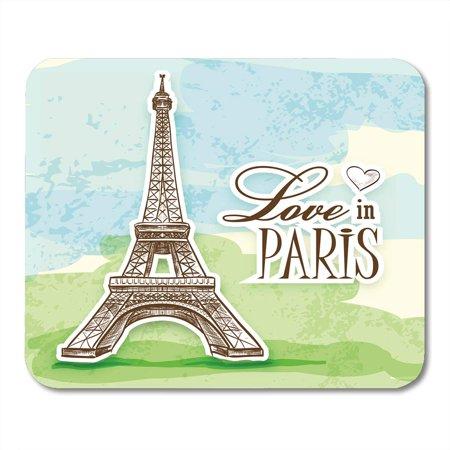 Eiffel Tower Cut Out (KDAGR Effel Love in Paris Efel Eiffel Tower is Colorful Cut Eifel Tour Amour Mousepad Mouse Pad Mouse Mat 9x10)