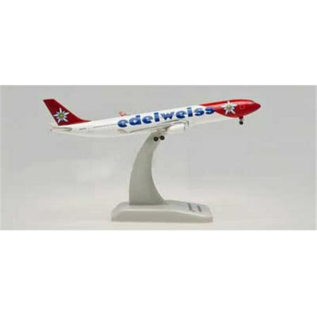 Hogan 500 Scale DIE-CAST HG5989 Edelweiss A330-300 1-500 REG HB-JHQ