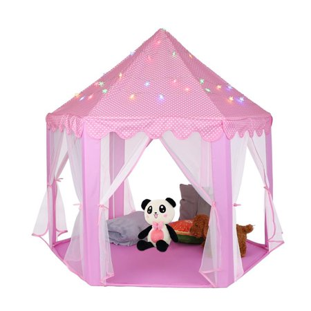 Greensen Tents for Girls, Kids Play Tent Princess Castle Play House Portable Children Outdoor Indoor Pink Princess Tent Girls Large Playhouse Birthday Gift - image 2 of 11