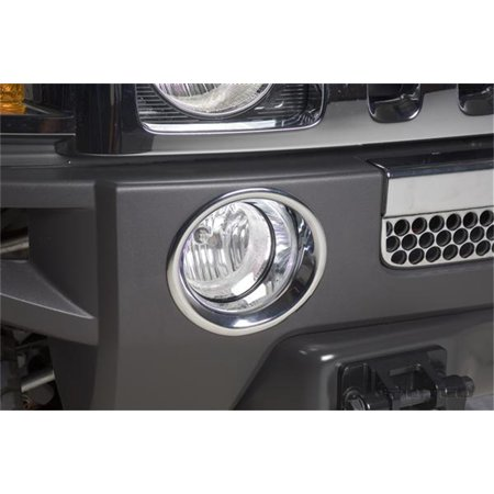 05-09 H3/09-10 Hummer H3T Chrome Fog Lamp Overlays and Rings