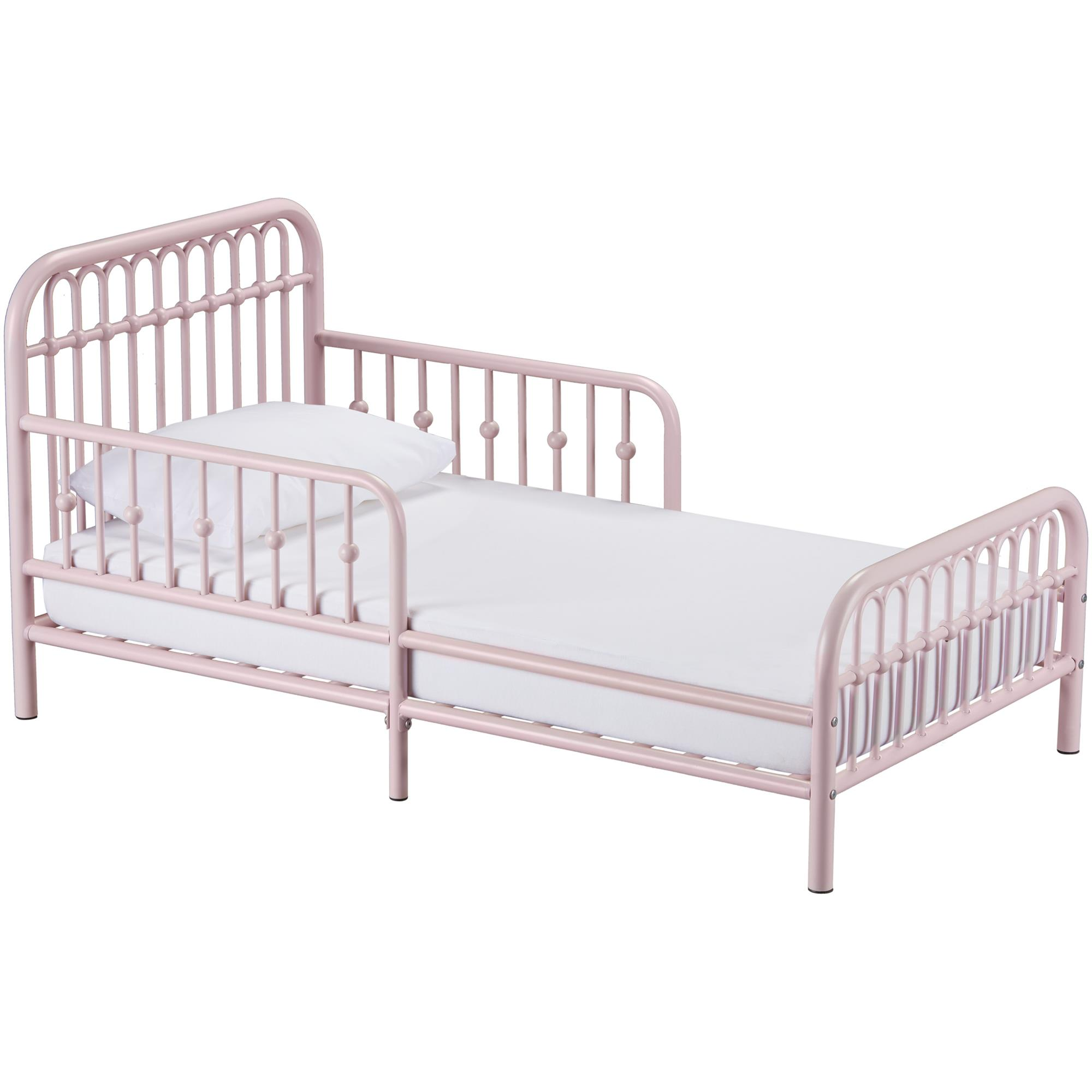 Little Seeds Monarch Metal Toddler Bed, Gray