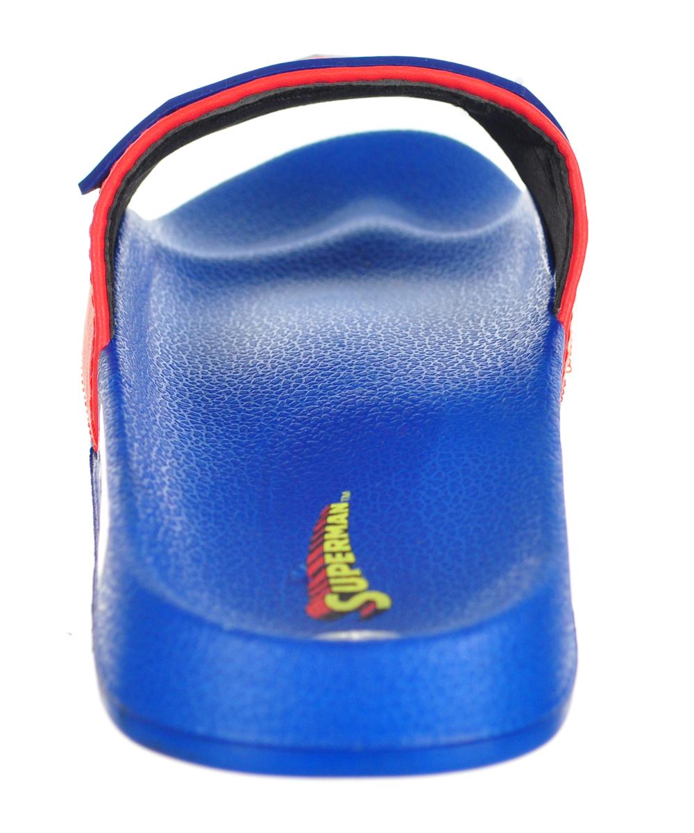 b99deadb3 SUPERMAN - Superman Boys' 3D Soccer Slide Sandals - Walmart.com