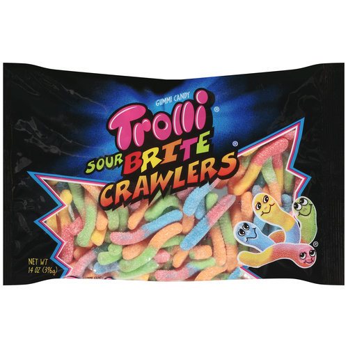 Trolli Sour Brite Crawlers Gummi Candy, 14 oz