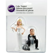 "Wilton 4"" Wedding Cake Topper, Ball & Chain 1006-7143"