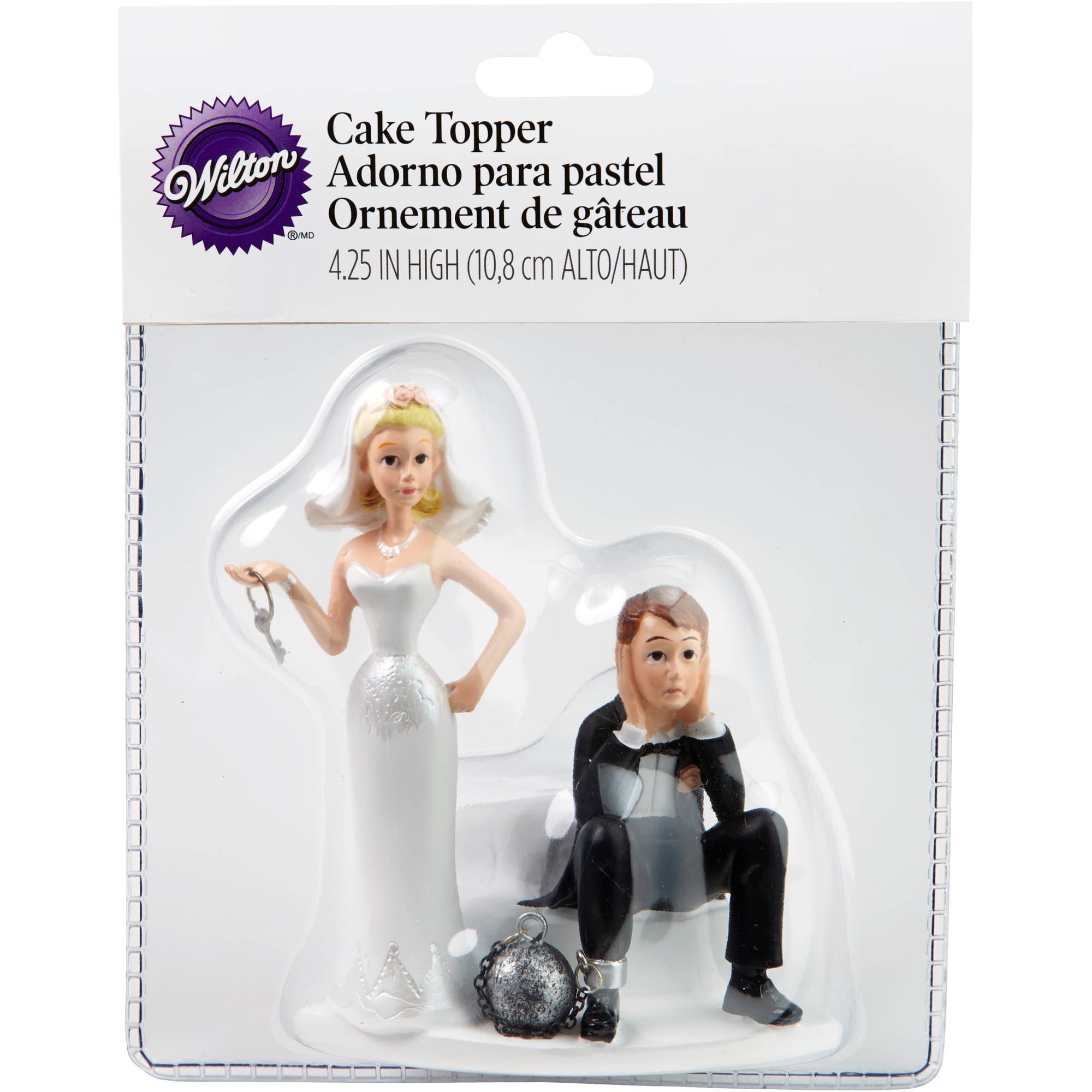 "Wilton 4"" Wedding Cake Topper, Ball & Chain 1006-7143"