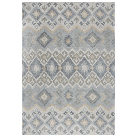 Gatney Rugs Pilaf Area Rugs Sh197b Contemporary Grey Diamonds