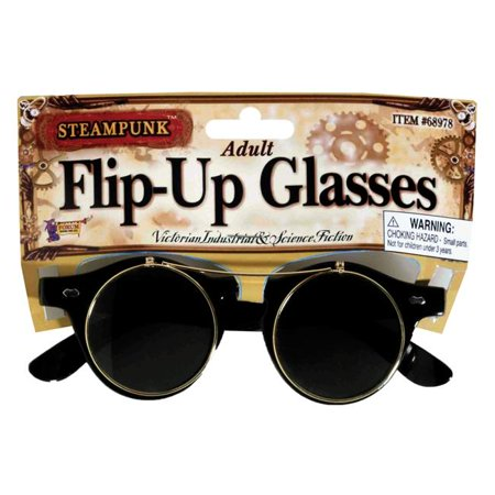 Morris Costumes FM68978 Steampunk Glasses Flip-Up Costume (Steampunk Flip Up Sonnenbrillen)