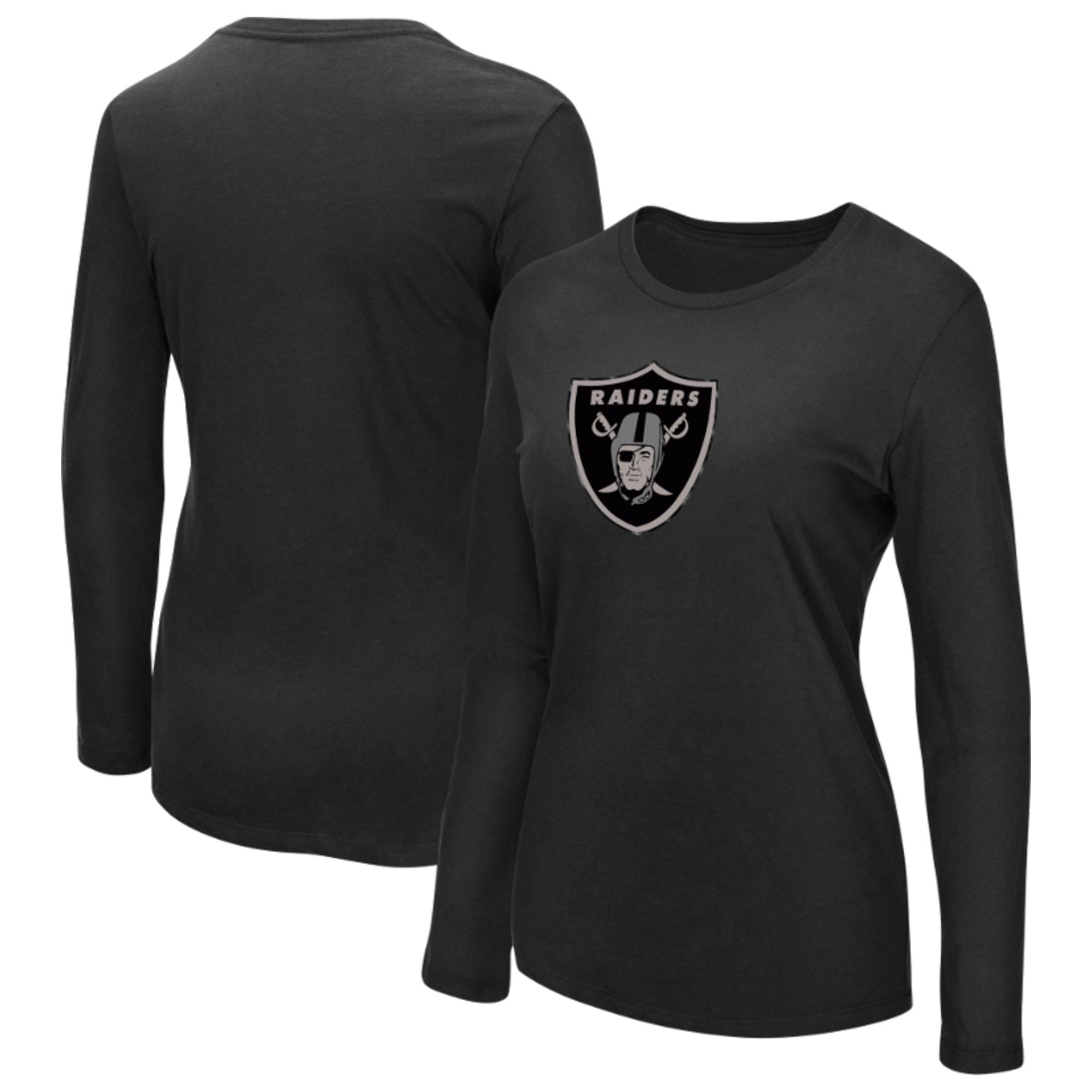 Oakland Raiders Majestic Women's My Team Long Sleeve T-Shirt - Black
