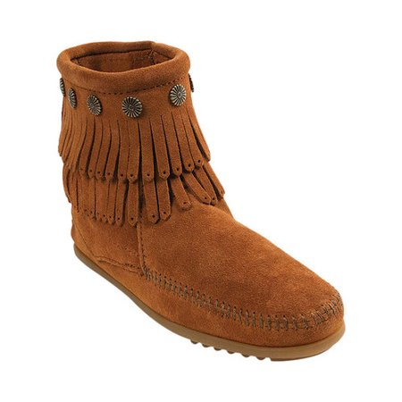 Women's Minnetonka Double Fringe Side Zip Boot