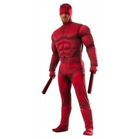 Deluxe Daredevil Adult Costume - X-Large - 50's Halloween Costumes For Babies