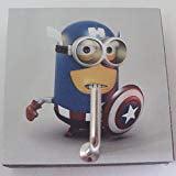 Agility Bathroom Wall Hanger Hat Bag Key Adhesive Wood Hook Vintage Captain America Minion s Photo - Captain Hooks Hat