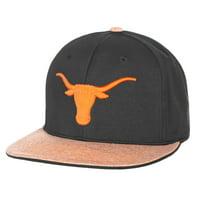 Men's Black/Texas Orange Texas Longhorns Lismore Flat Adjustable Hat - OSFA