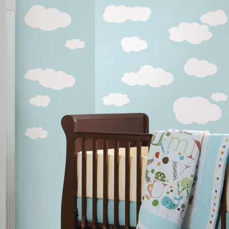 RoomMates Clouds (White Bkgnd) Peel & Stick Wall Decals