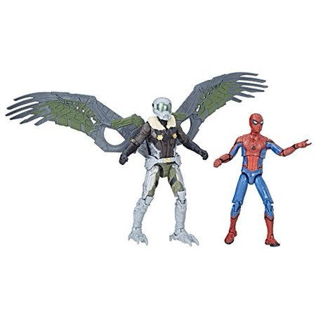 Spider-Man Marvel Legends Homecoming Spider-Man & Vulture Figures 2-Pack, 3.75-inch