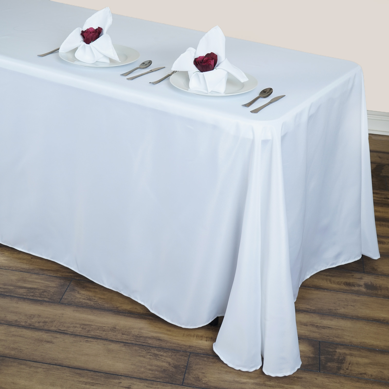 Efavormart Round Corner Polyester Rectangle Tablecloths for Kitchen Dining Catering... by
