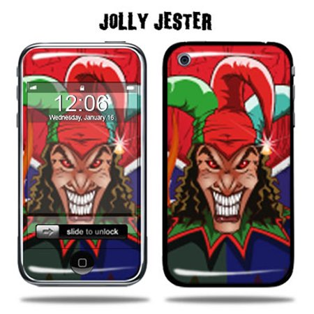 Mightyskins Protective Vinyl Skin Decal Cover for Apple iPhone 3G/3GS 8GB 16GB 32GB Cell Phone wrap sticker skins  - Jolly Jester (Jester Set)