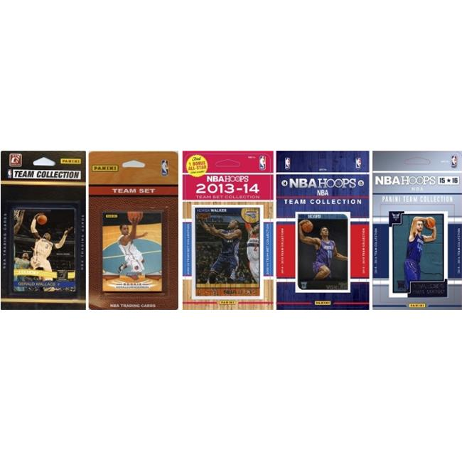 C&I Collectables NBA Charlotte Hornets 5 Different Licensed Trading Card Team Sets