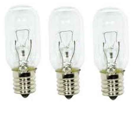 Edgewater Parts WB02X4253 Light bulbs  (3 pk.) for General Electric microwave oven