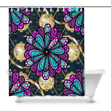 POP Lilac and Pink Flowers Decor Waterproof Bathroom Shower Curtain 60x72 inch - image 1 of 1