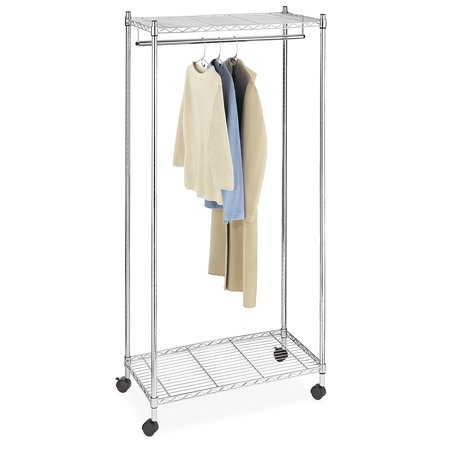 Whitmor Supreme Garment Rack With Wheels Chrome