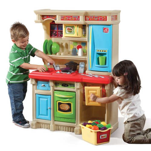 Step2 Lifestyle Brights Custom Kitchen Play Set Features a 20 Piece Accessory Set