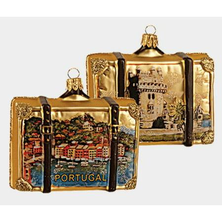 Portugal Travel Suitcase Polish Blown Glass Christmas ...