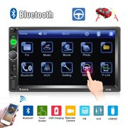 """2 Din Car Radio 7"""" HD Player MP5 Touch Screen Digital Display Support Bluetooth Multimedia USB Autoradio Mirror Link Rear View Camera Connection"""
