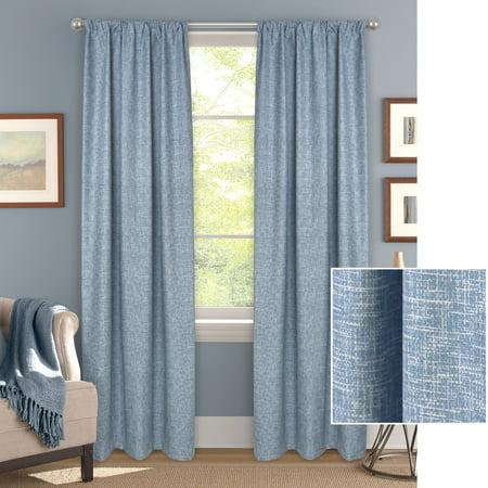 Mainstays Linen Print Single Blackout Curtain Panel (Linen Blackout 95)
