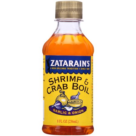 Zatarains Shrimp   Crab Boil Garlic   Onions  8 0 Fl Oz