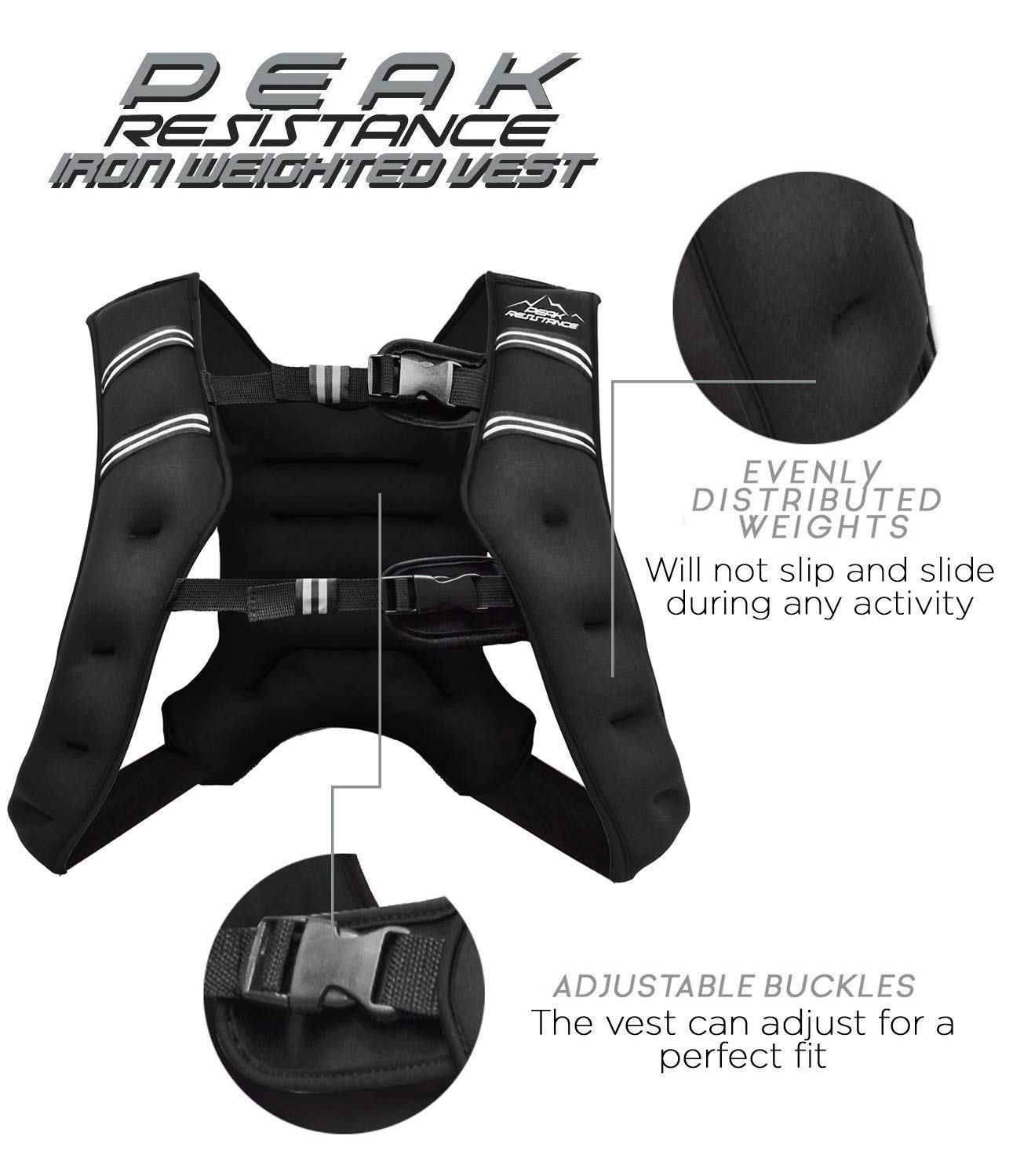 Aduro Sport Weighted Vest Workout Equipment 25lbs Body for sale online