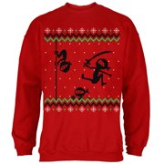 Ninja Ninjas Attack Ugly Christmas Sweater Mens Sweatshirt Red SM